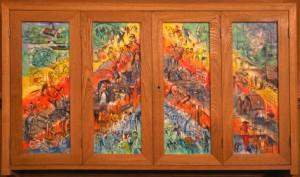 Panneaux de l'orgue de l'Église Notre-Dame d'Imphy