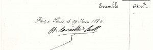 Signature devis Cavaillé-Coll