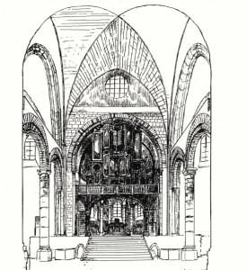 Orgue XVIII choeur roman Nevers